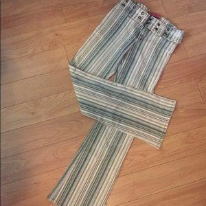 Hot Kiss Retro Stripe Stretch Pant, 7